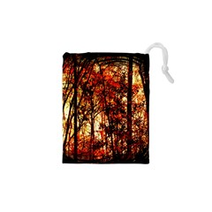 Forest Trees Abstract Drawstring Pouches (xs)