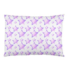 Lilac Stars Pillow Case (two Sides) by cheekywitch