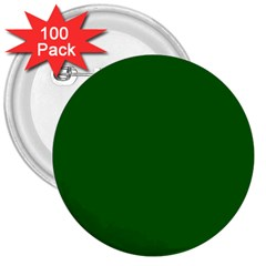 Dark Plain Green 3  Buttons (100 Pack)  by Jojostore