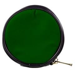 Dark Plain Green Mini Makeup Bags by Jojostore