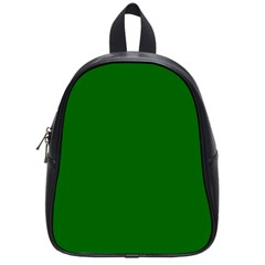 Dark Plain Green School Bags (small)  by Jojostore