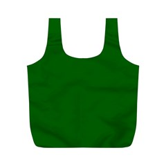 Dark Plain Green Full Print Recycle Bags (m)  by Jojostore