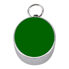 Dark Plain Green Mini Silver Compasses by Jojostore