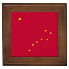 Alaska Star Red Yellow Framed Tiles