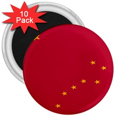 Alaska Star Red Yellow 3  Magnets (10 pack)