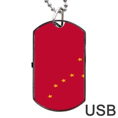 Alaska Star Red Yellow Dog Tag Usb Flash (one Side) by Jojostore