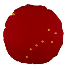 Alaska Star Red Yellow Large 18  Premium Round Cushions by Jojostore