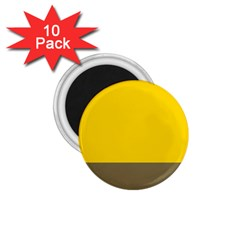 Trolley Yellow Brown Tropical 1 75  Magnets (10 Pack)  by Jojostore