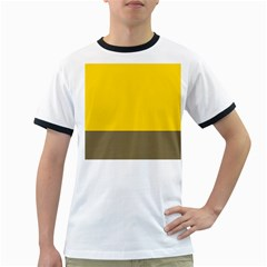 Trolley Yellow Brown Tropical Ringer T Shirts by Jojostore