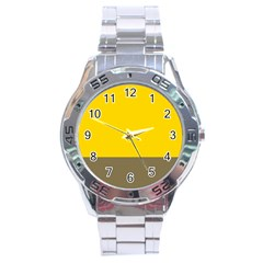 Trolley Yellow Brown Tropical Stainless Steel Analogue Watch by Jojostore