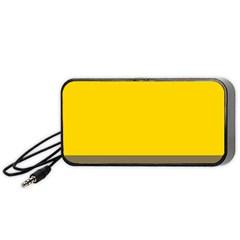 Trolley Yellow Brown Tropical Portable Speaker (black)