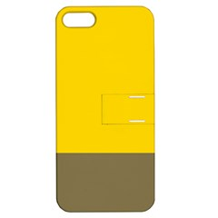 Trolley Yellow Brown Tropical Apple Iphone 5 Hardshell Case With Stand by Jojostore