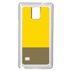Trolley Yellow Brown Tropical Samsung Galaxy Note 4 Case (white) by Jojostore