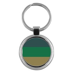 Blue Green Brown Key Chains (round)  by Jojostore