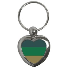 Blue Green Brown Key Chains (heart)  by Jojostore