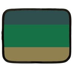 Blue Green Brown Netbook Case (xxl)  by Jojostore