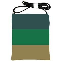 Blue Green Brown Shoulder Sling Bags by Jojostore