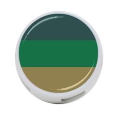 Blue Green Brown 4 Port Usb Hub (two Sides)  by Jojostore