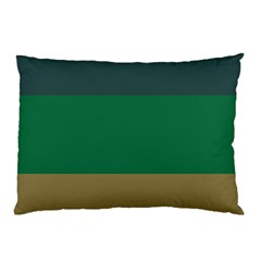 Blue Green Brown Pillow Case (two Sides) by Jojostore