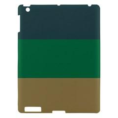 Blue Green Brown Apple Ipad 3/4 Hardshell Case by Jojostore