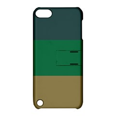 Blue Green Brown Apple Ipod Touch 5 Hardshell Case With Stand by Jojostore