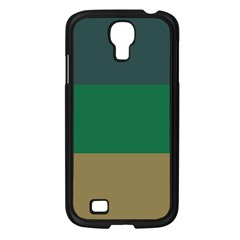 Blue Green Brown Samsung Galaxy S4 I9500/ I9505 Case (black) by Jojostore