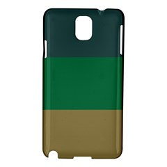 Blue Green Brown Samsung Galaxy Note 3 N9005 Hardshell Case by Jojostore