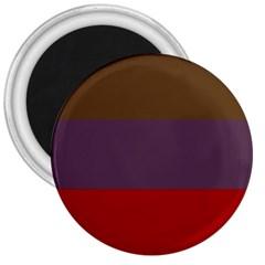 Brown Purple Red 3  Magnets by Jojostore