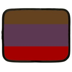 Brown Purple Red Netbook Case (large) by Jojostore
