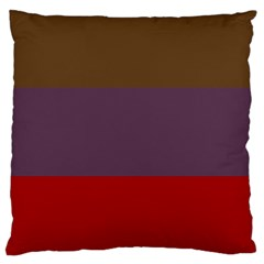 Brown Purple Red Large Cushion Case (one Side) by Jojostore