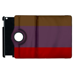 Brown Purple Red Apple Ipad 2 Flip 360 Case by Jojostore