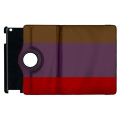 Brown Purple Red Apple Ipad 3/4 Flip 360 Case by Jojostore