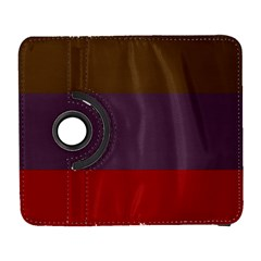 Brown Purple Red Galaxy S3 (flip/folio) by Jojostore