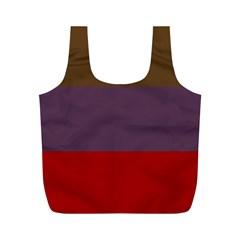Brown Purple Red Full Print Recycle Bags (m)  by Jojostore