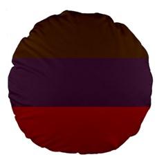 Brown Purple Red Large 18  Premium Flano Round Cushions by Jojostore