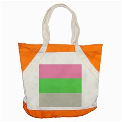 Grey Green Pink Accent Tote Bag by Jojostore
