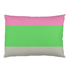Grey Green Pink Pillow Case by Jojostore