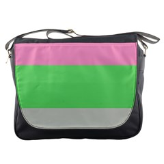 Grey Green Pink Messenger Bags by Jojostore