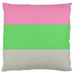 Grey Green Pink Large Cushion Case (two Sides) by Jojostore