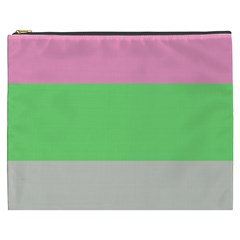 Grey Green Pink Cosmetic Bag (xxxl)  by Jojostore