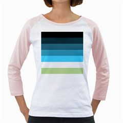 Line Color Black Green Blue White Girly Raglans by Jojostore