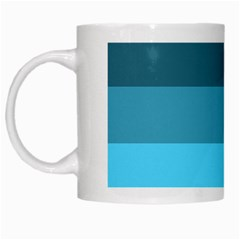 Line Color Black Green Blue White White Mugs by Jojostore