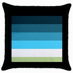 Line Color Black Green Blue White Throw Pillow Case (black) by Jojostore