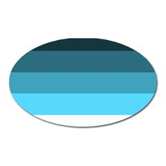 Line Color Black Green Blue White Oval Magnet by Jojostore