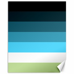 Line Color Black Green Blue White Canvas 11  X 14   by Jojostore