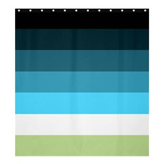 Line Color Black Green Blue White Shower Curtain 66  X 72  (large)  by Jojostore