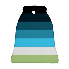 Line Color Black Green Blue White Bell Ornament (two Sides) by Jojostore