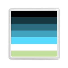Line Color Black Green Blue White Memory Card Reader (square)  by Jojostore