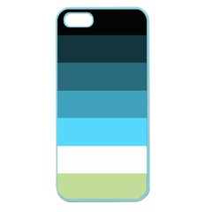Line Color Black Green Blue White Apple Seamless Iphone 5 Case (color) by Jojostore