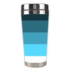Line Color Black Green Blue White Stainless Steel Travel Tumblers by Jojostore